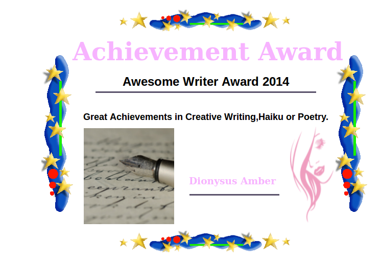 Awesome Achievement Award - November 7 2014