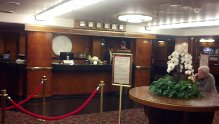 Queen Mary reception desk