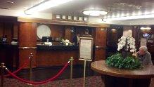 Queen Mary reception desk