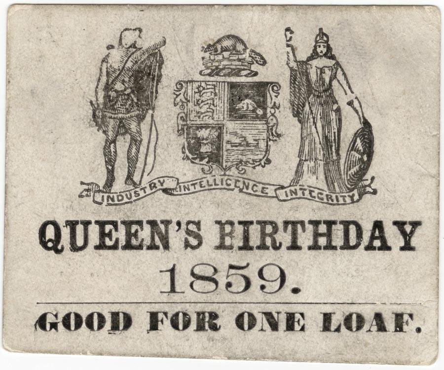 Victoria Day Free Bread 1859