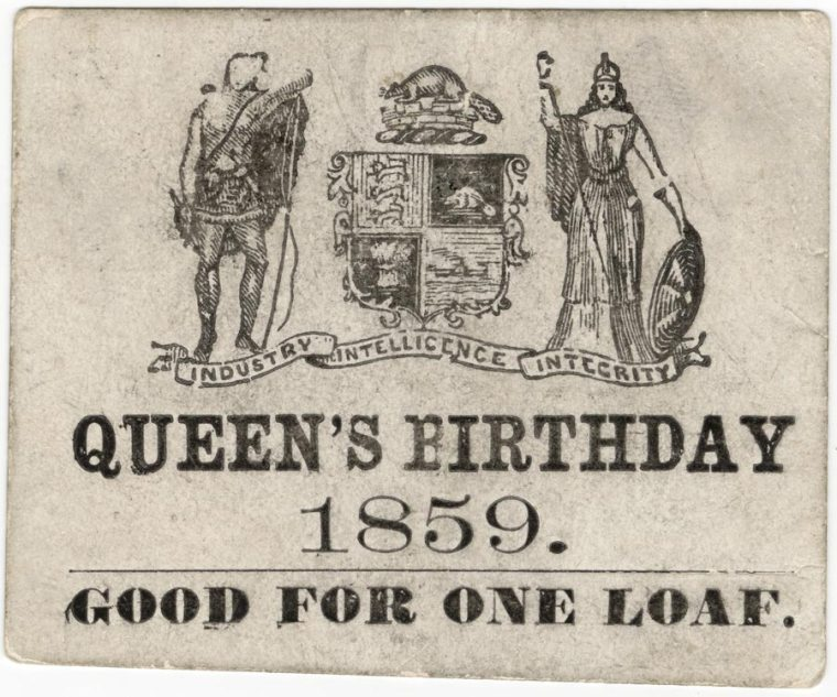 Victoria Day Free Bread 1859