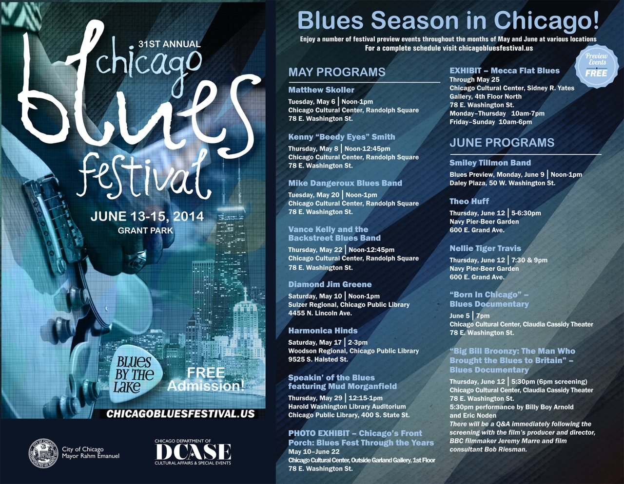 Chicago Blues Festival Blues by the Lake city of chicago org