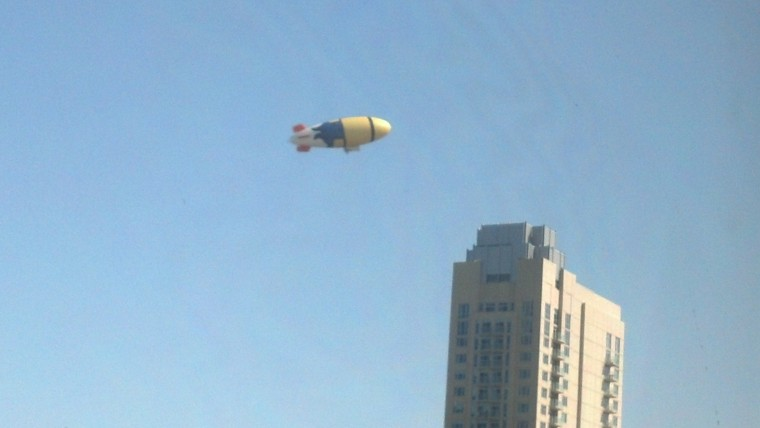 Balloon over building August 29 2013