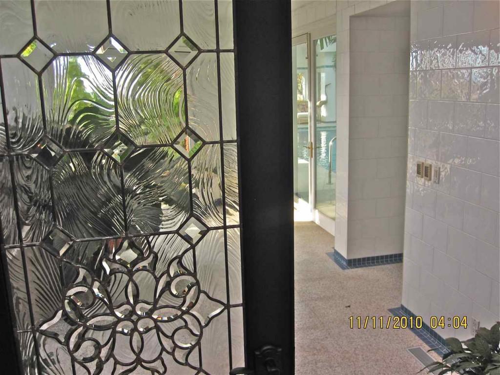 Beveled Glass Door