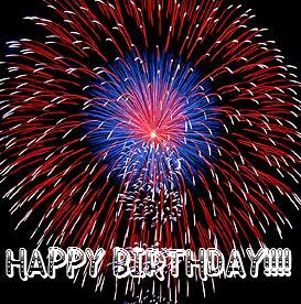 Fireworks - Happy Birthday