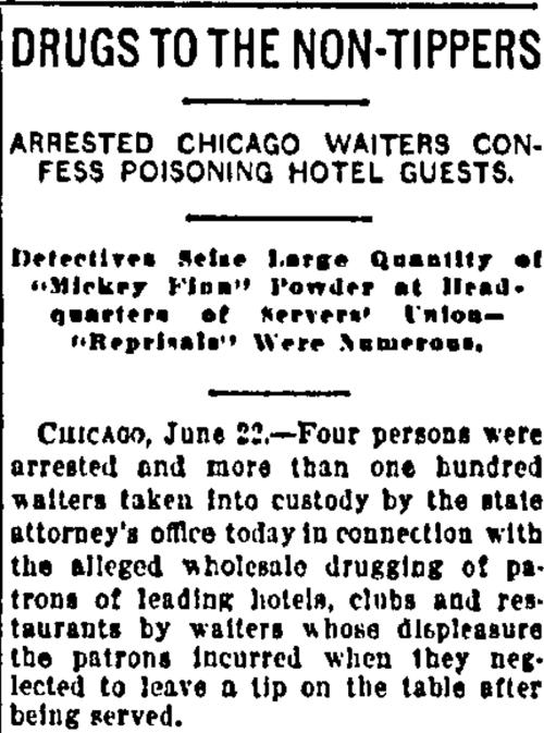 Mickey Finn Newspaper article chicagoreader