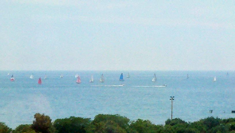 Sailboats Lake Michigan