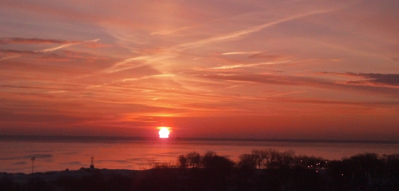Lake Michigan Sunrise Feb 20 2015