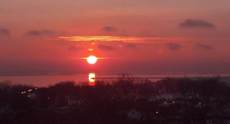 Sunrise Lake Michigan Jan 2015