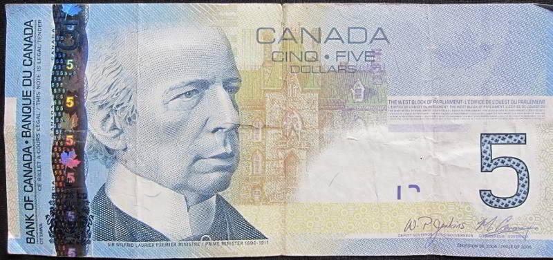 Canadian Five Dollar Bill