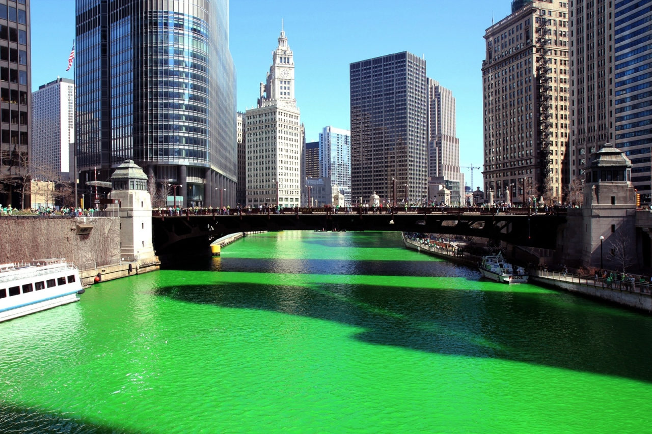 Chicago River Green 2015 2