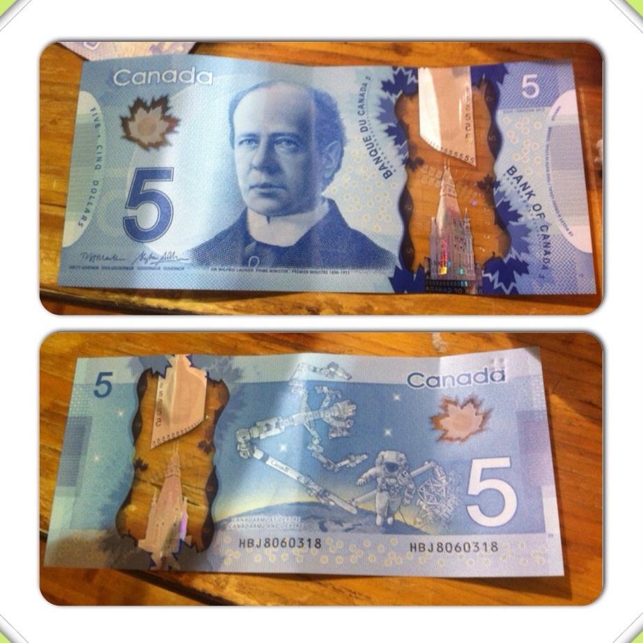 New Canadian Five Dollar Bill