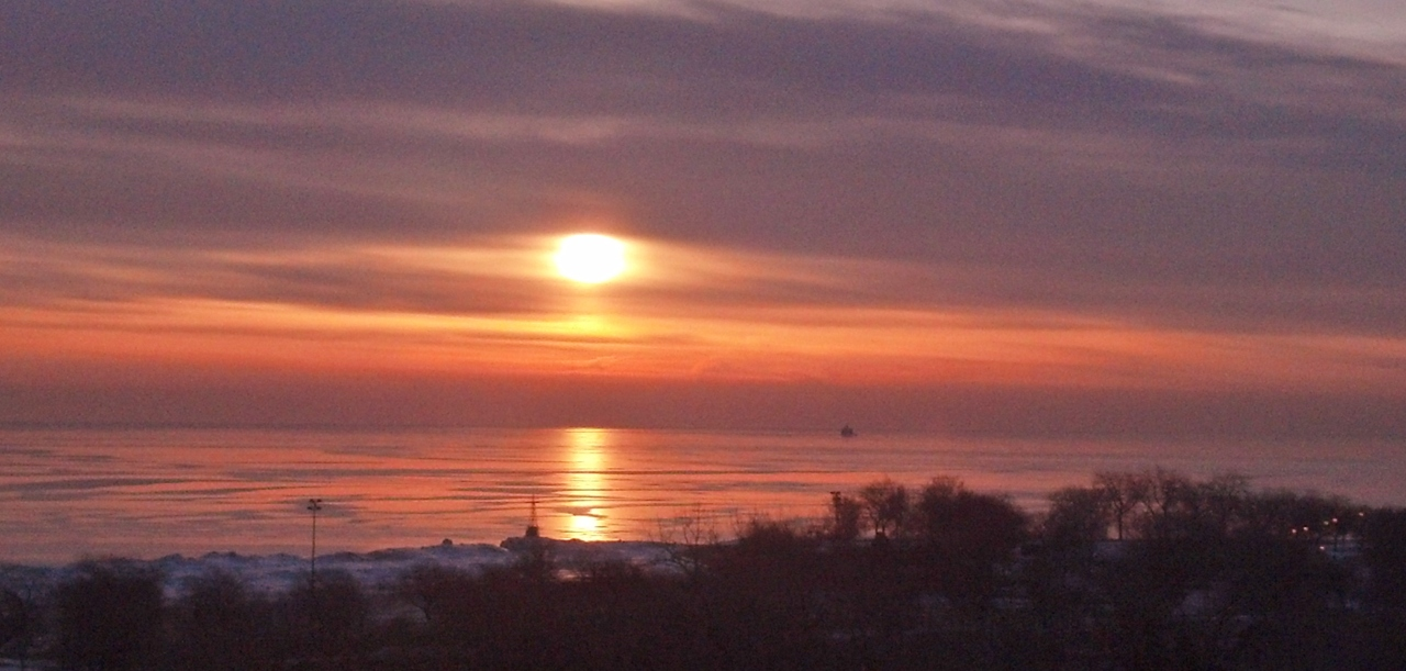Sunrise Lake Michigan March 6 2015