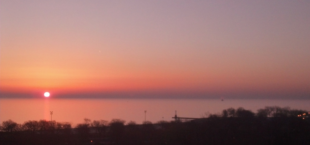 Sunrise Lake Michigan April 1, 2015