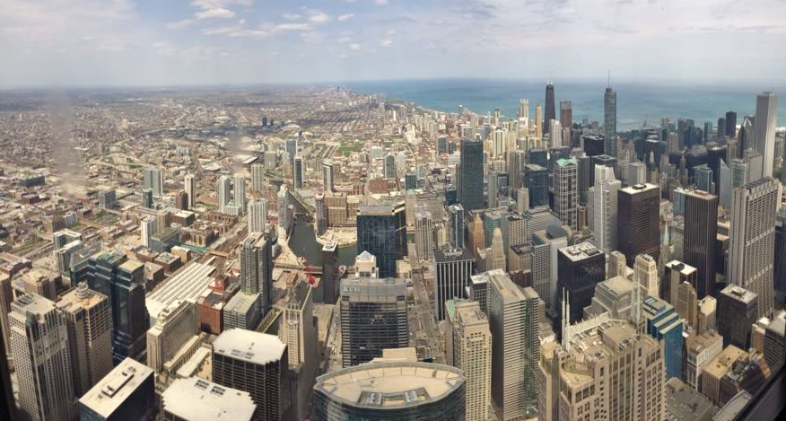 Chicago from Willis Tower SkyDeck 2