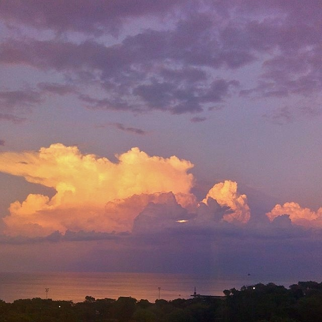 Clouds over Lake Michigan, Summer, 2014