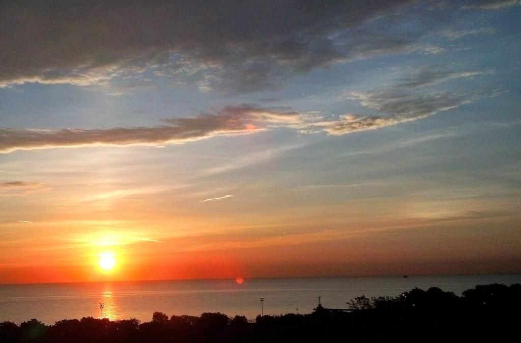 Sunrise Lake Michigan Sept 10 2015 4