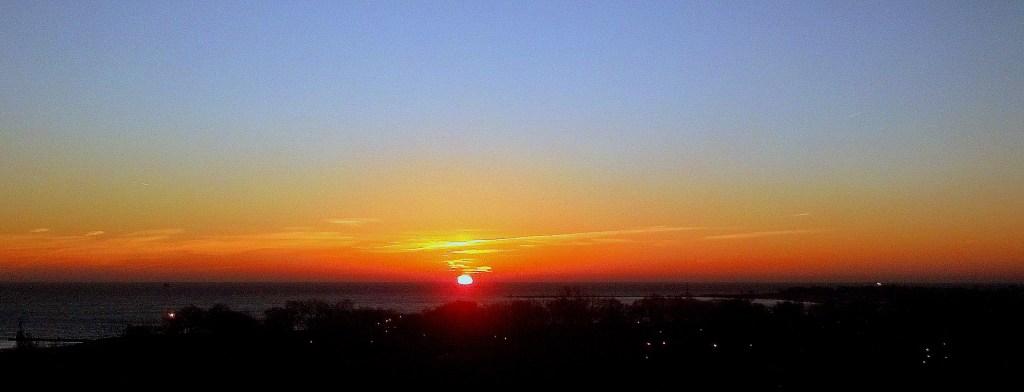 Sunrise Lake Michigan November 25 2015