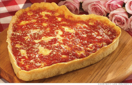 Deep dish Pizza Heart