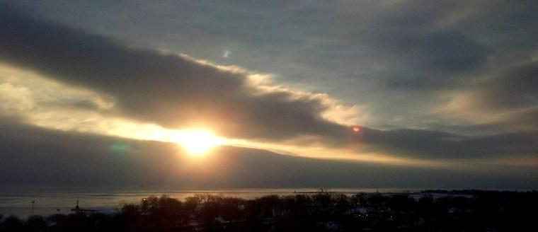 sunrise Lake Michigan Feb 16 2016