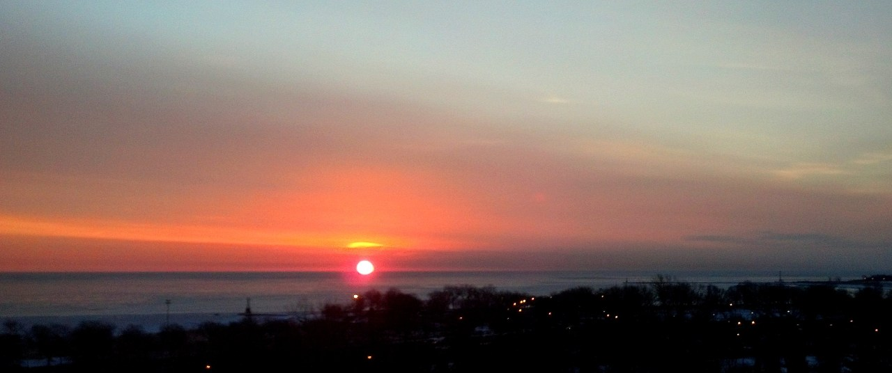 sunrise Lake Michigan Feb 18 2016 1