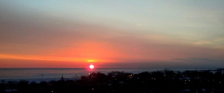 sunrise Lake Michigan Feb 18 2016 1