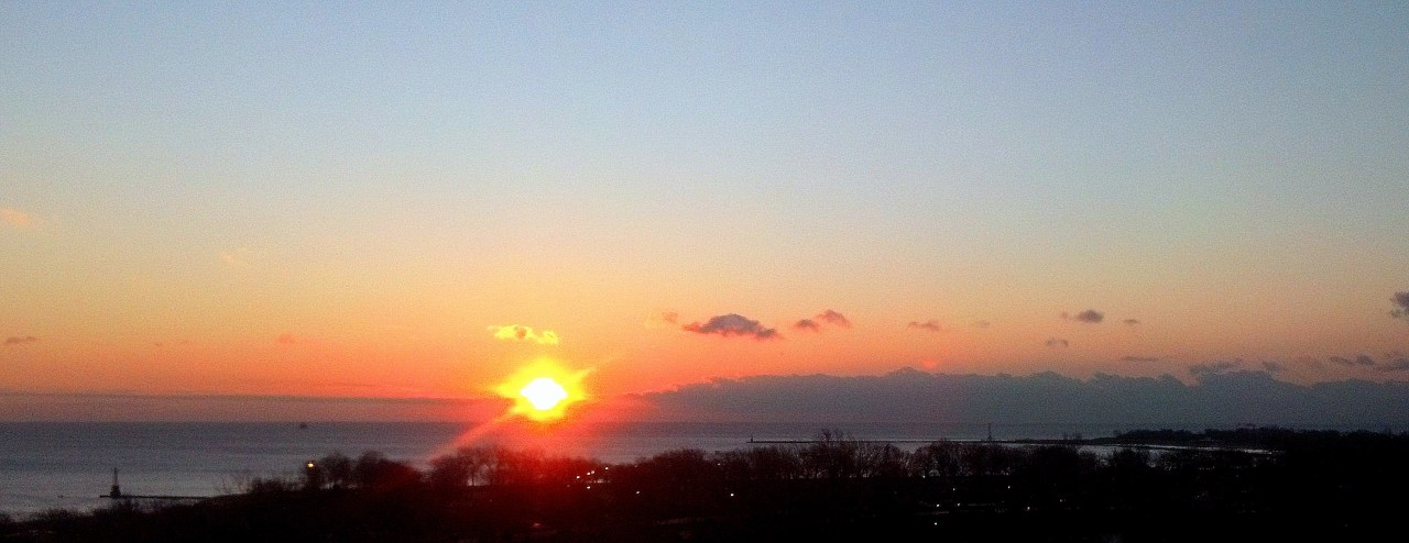 Sunrise Lake Michigan Feb 3 2016 2