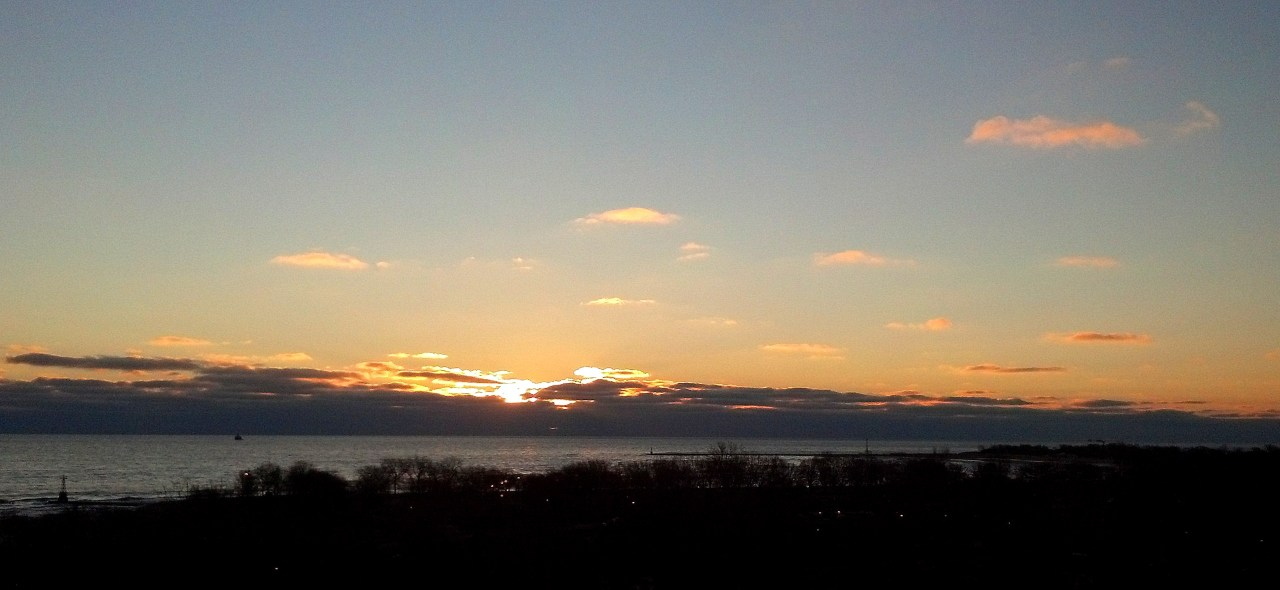 sunrise Lake Michigan Jan 30 2016 1