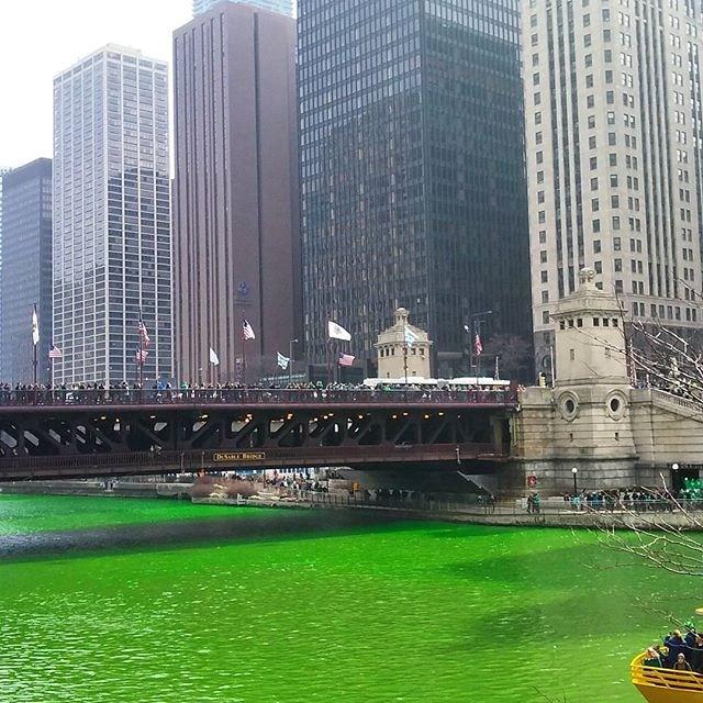 Chicago River Green 2016 1