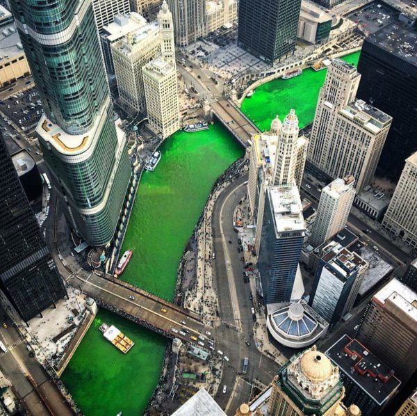 Chicago River Green 2016 3