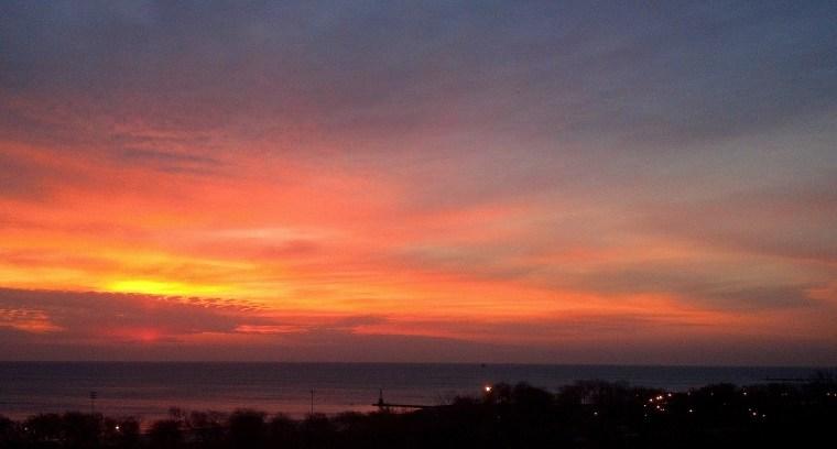 sunrise Lake Michigan March 22 2016