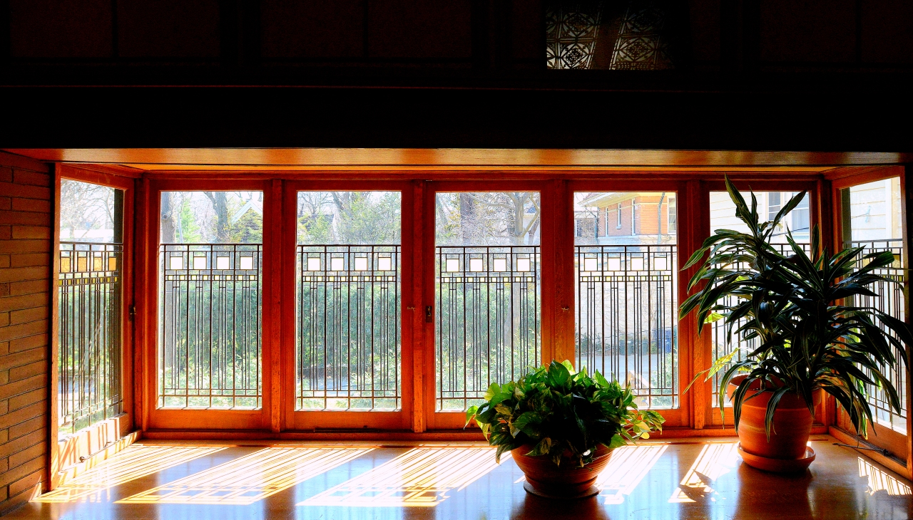 Frank Lloyd Wright Prairie Style Windows