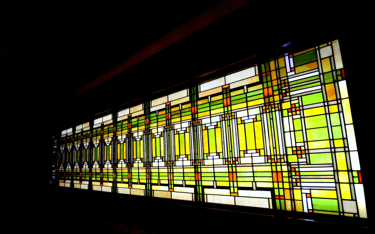 Frank Lloyd Wright Series Prairie Style Stained Glass