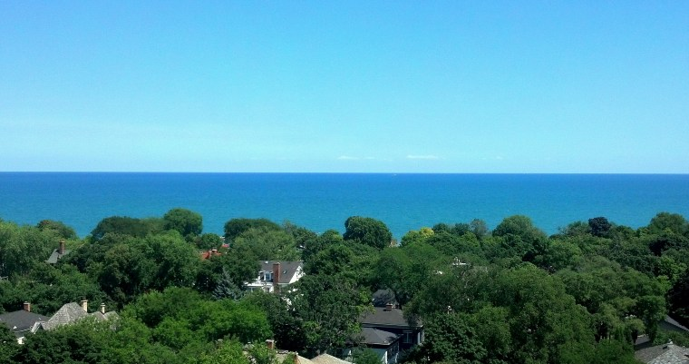 Lake Michigan from The Mather Evanston August 8 2016