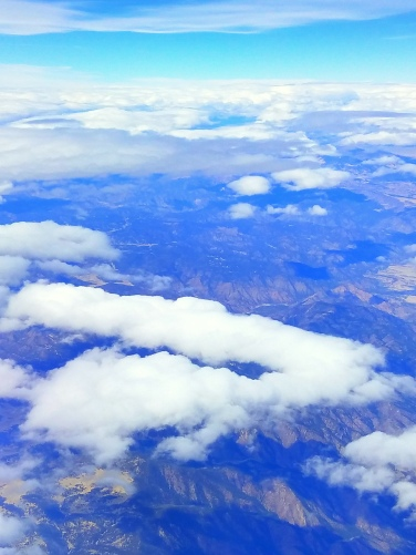 Clouds and scenery on the way to LA March 2018